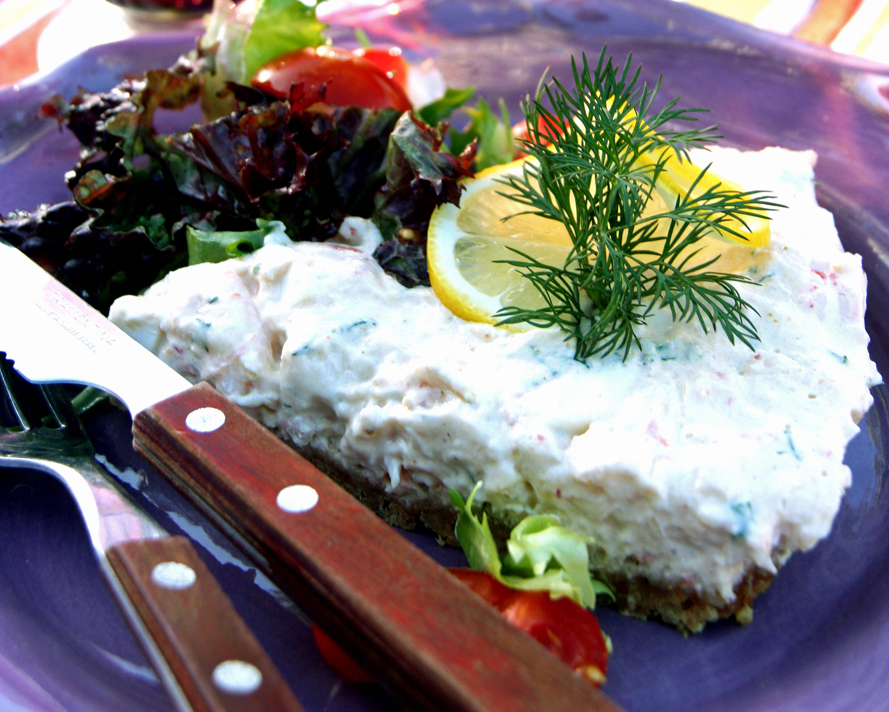 Lax- och skaldjurscheesecake