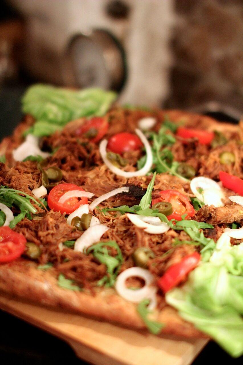 Pulled pork pizza!