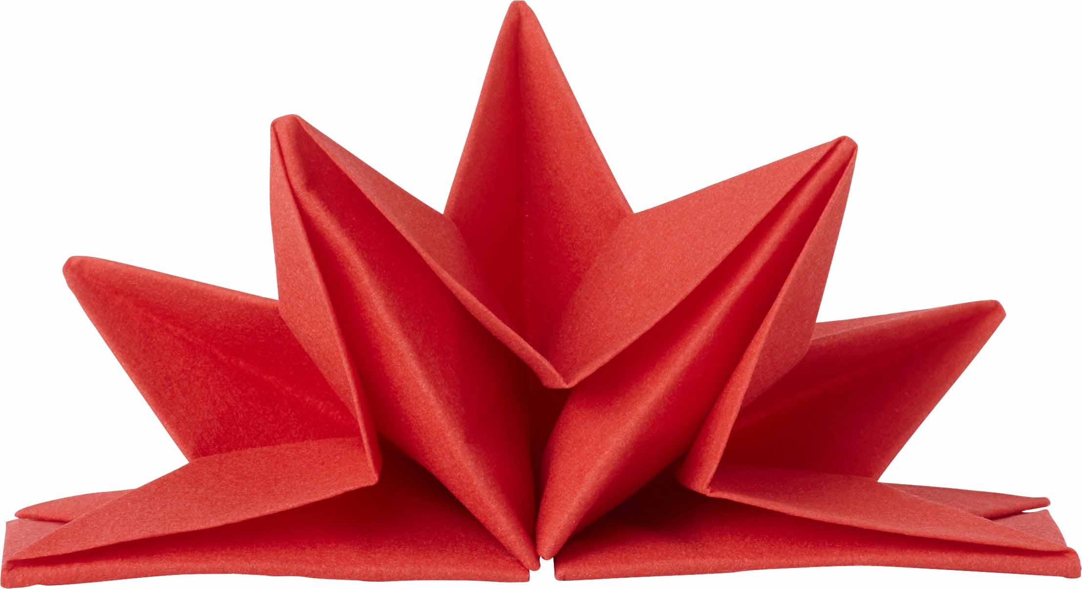 Servett 6-pack Färdigvikt röd Airlaidkvalitet 7331210119293 646316 918