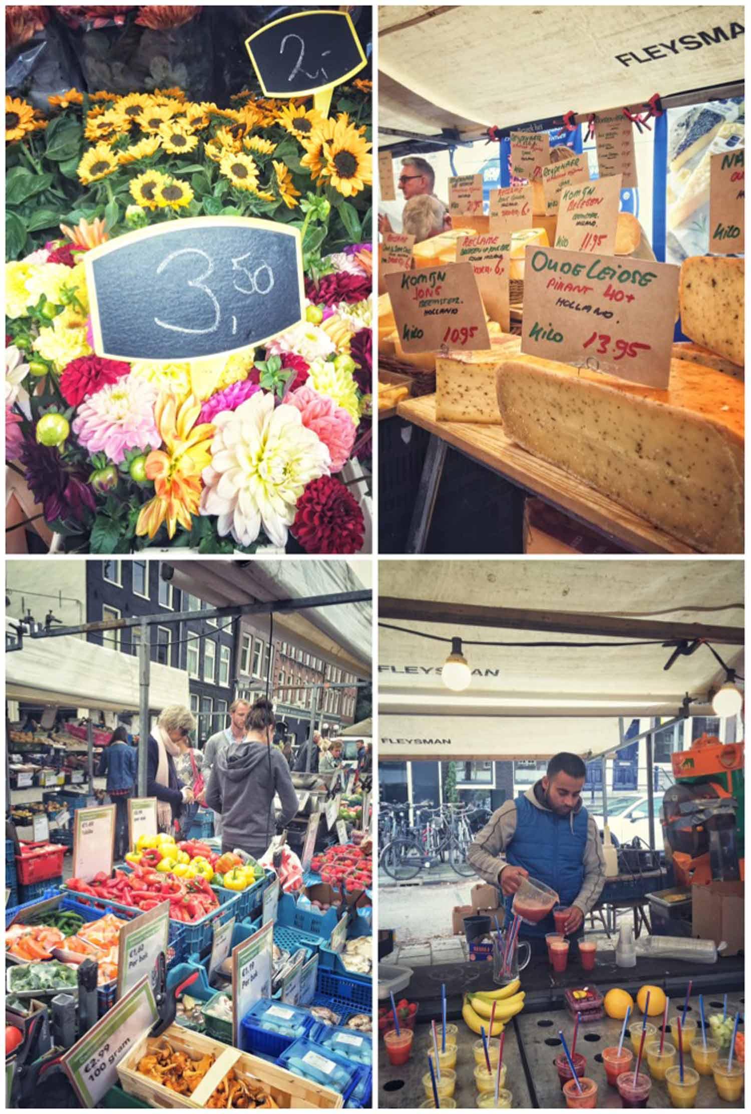 Blommor är billigt i Amsterdam och ostarna fantastiska.