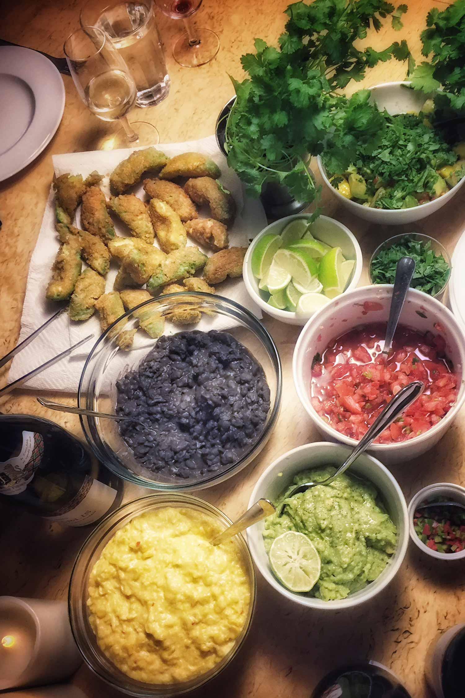 Vilkent taco-knyt! Tack alla bloggkollegor på alltommat.se för en härlig kväll!