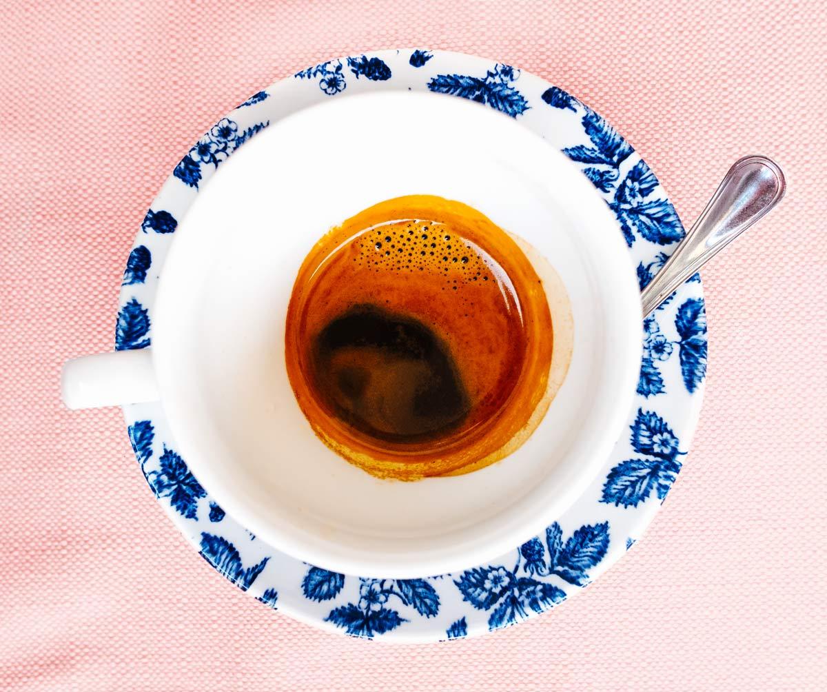 Espresso in Cortona, Italy