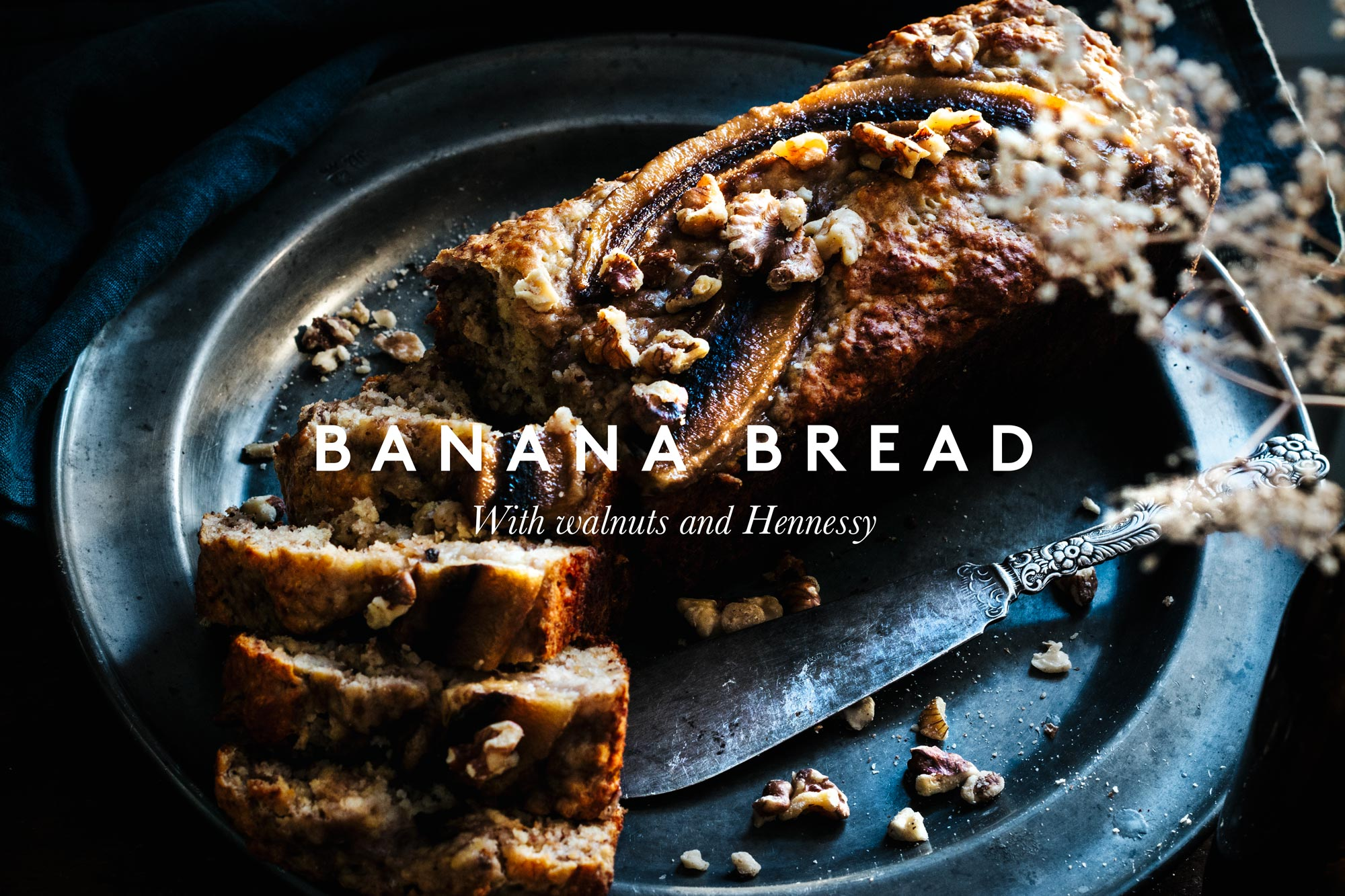 Banana bread with walnuts and hennessy by ploppestable Petter Bäcklund