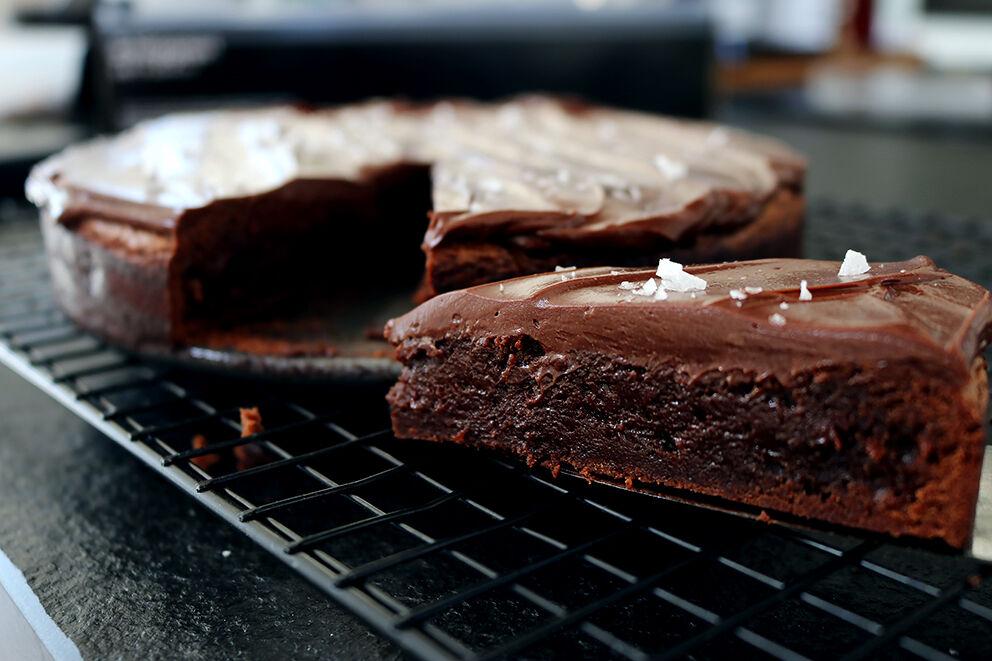 chokladkaka med topping