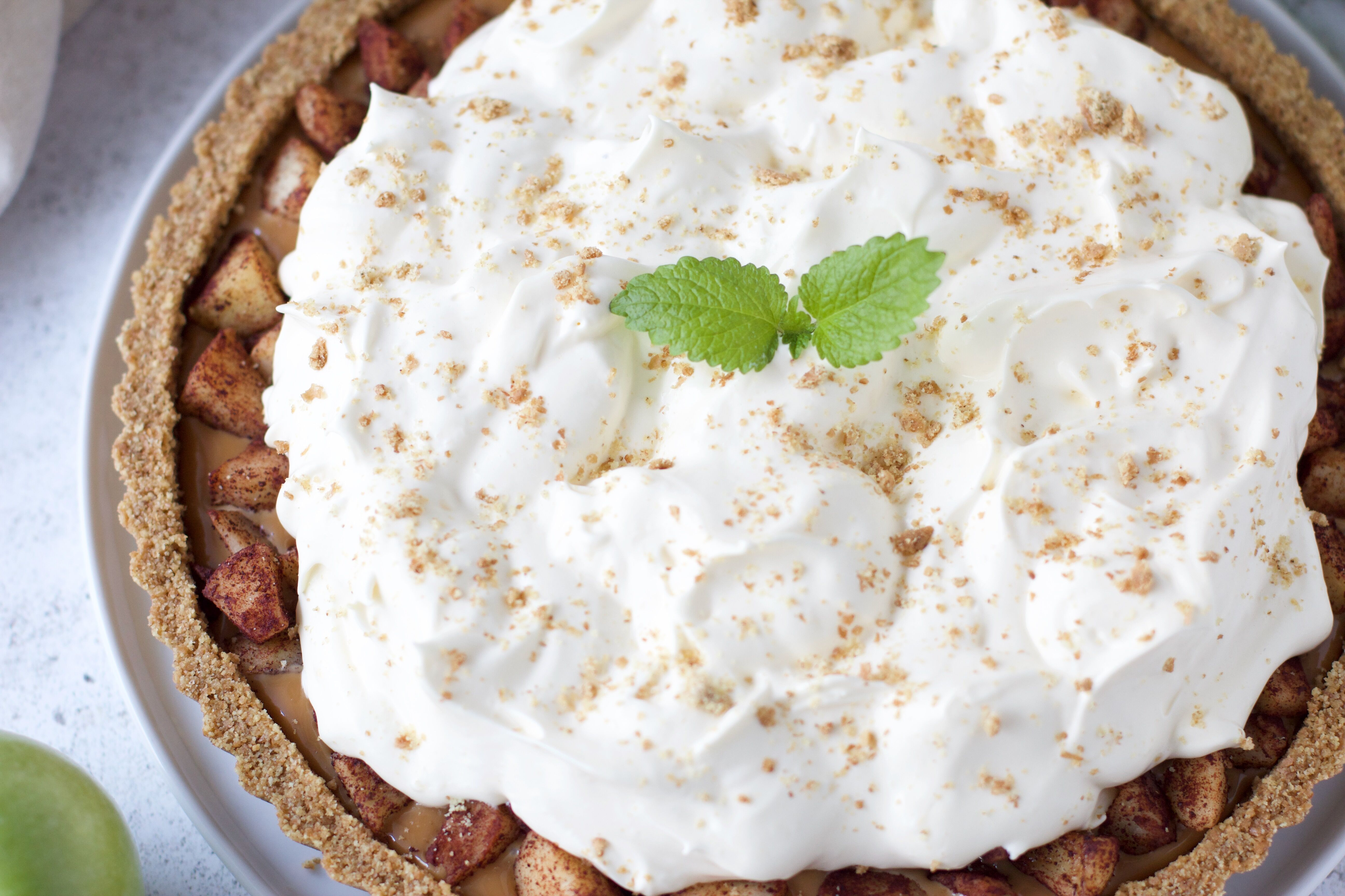 Äppeloffeepaj - No-bake äppelkolapaj med vaniljvisp 2