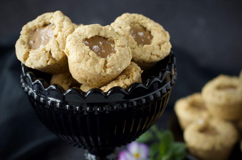 Havrecookie cups med karamellchoklad 2
