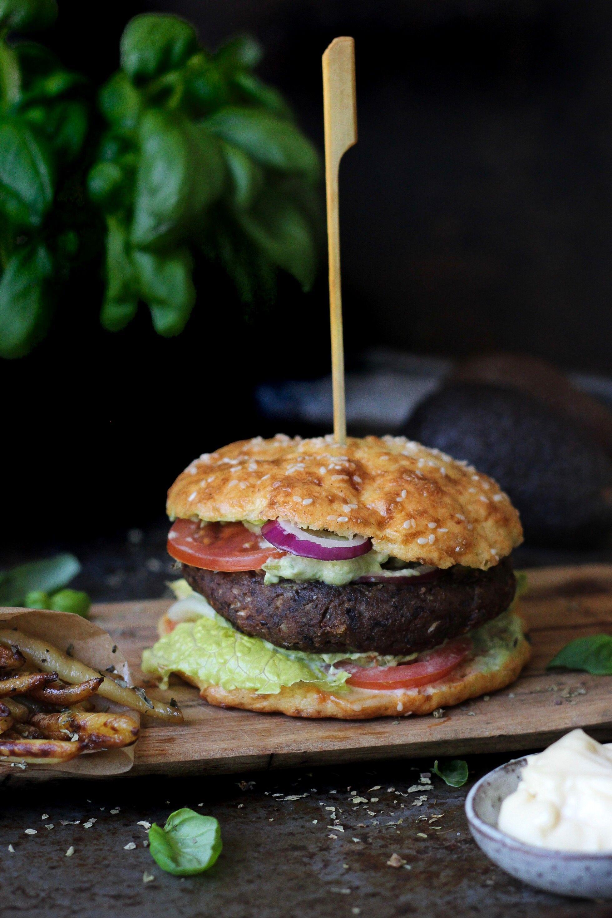 vegetarisk hamburgare