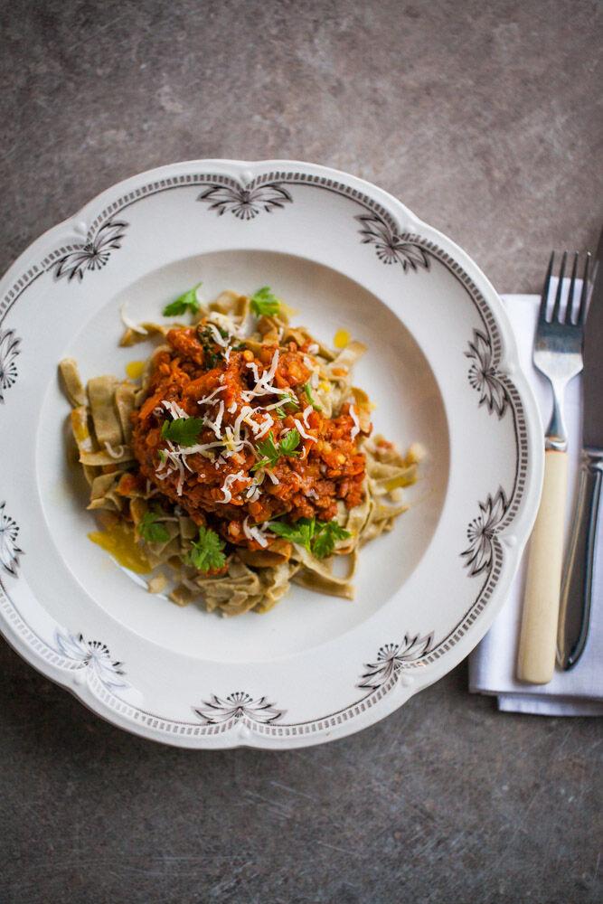 pasta med köttfärsås