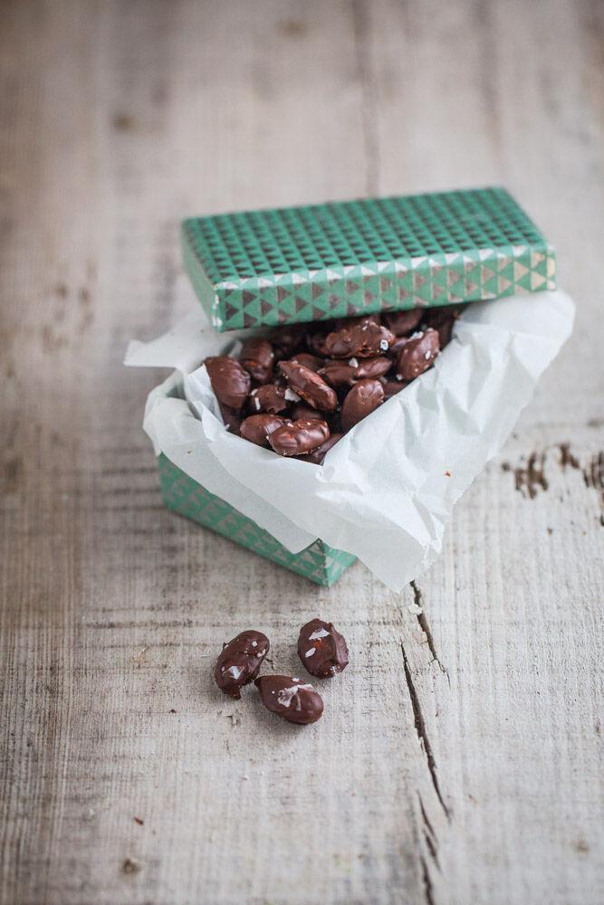 chokladdoppade mandlar