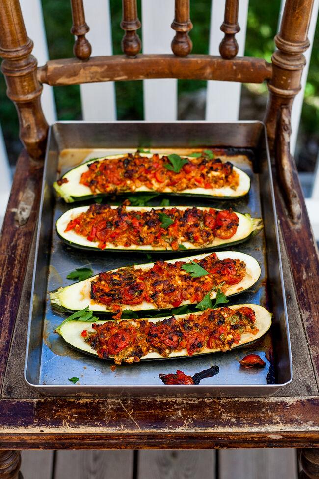 zucchini i ugn
