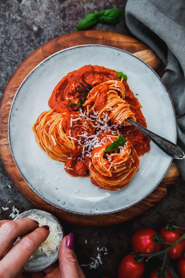 pastasås med ugnsrostade grönsaker villapuccini