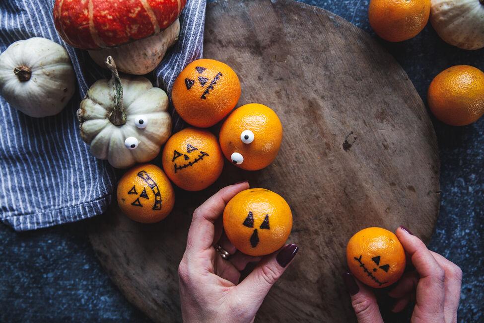 pyssel halloween clementin diy