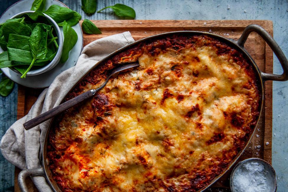 vegetarisk lasagne vego