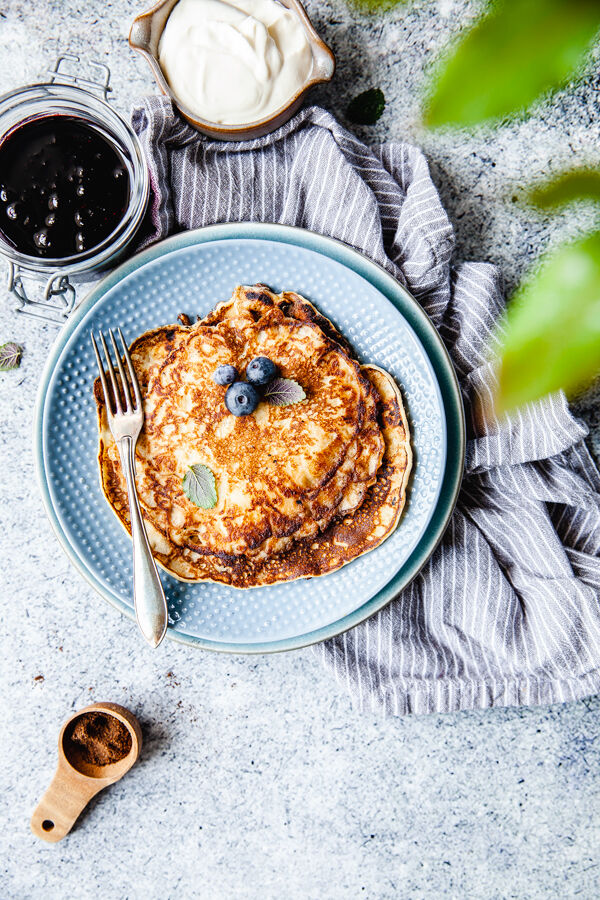 pannkakor, mellanmål, lunch, frukost