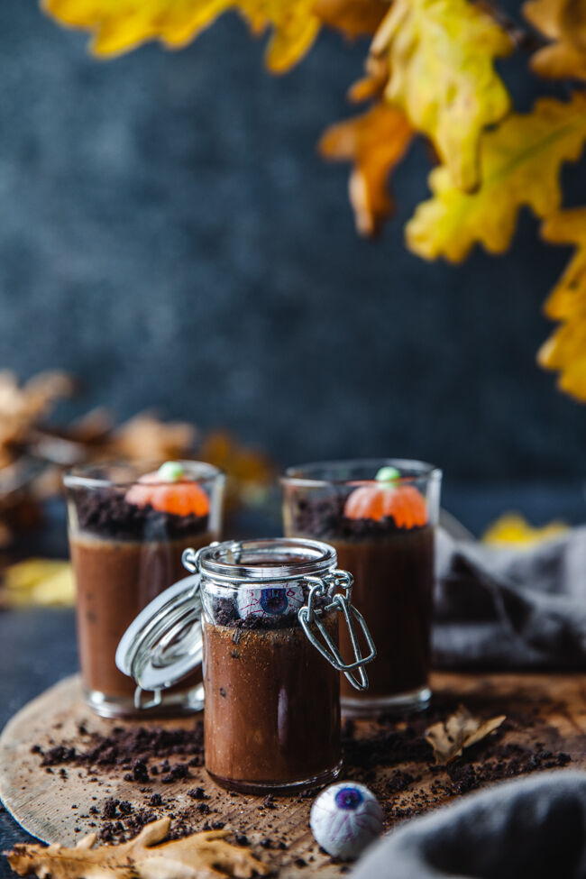 pannacotta, halloween, dessert, oreopannacotta