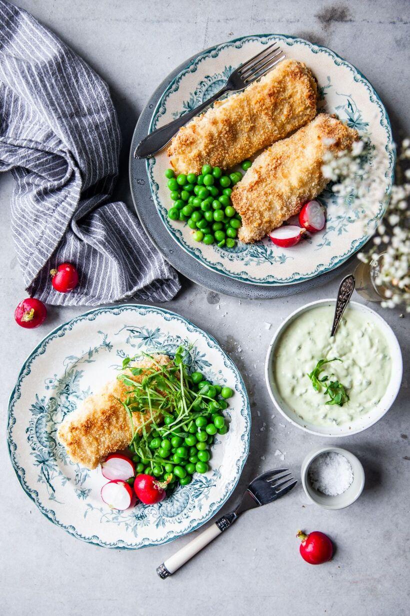 fisk i ugn, sås, torsk