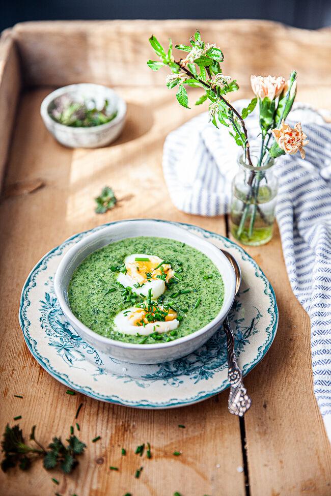 soppa, vår, soppa på brännässla