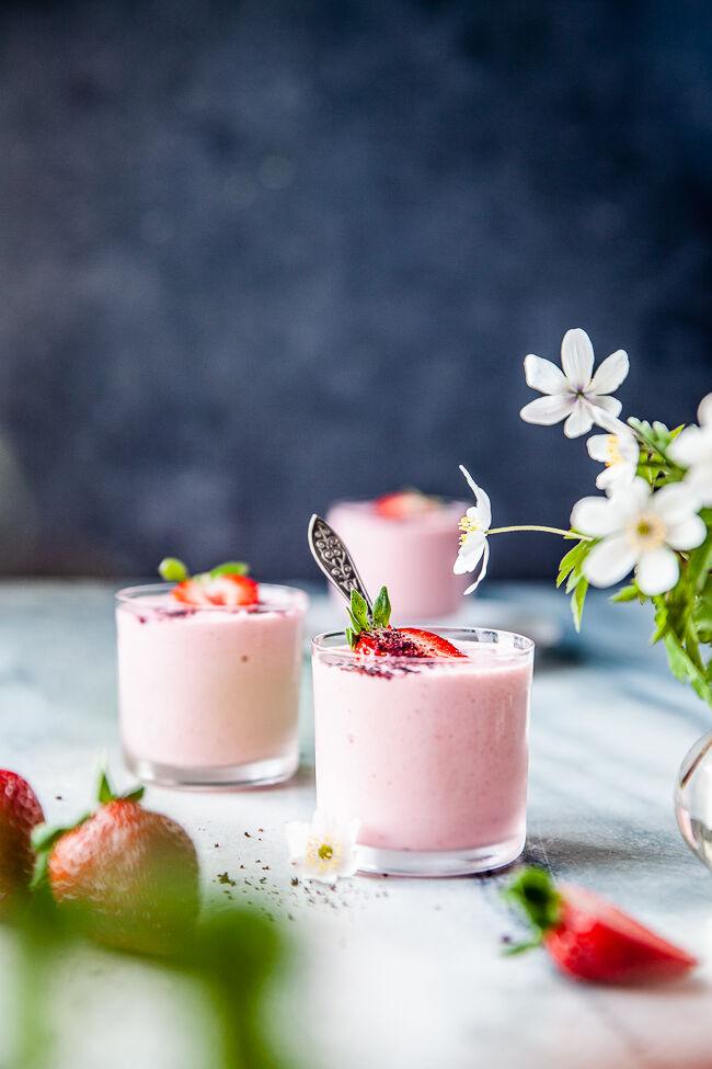 glass, nyttig glass, jordgubbslglass, yoghurtglass