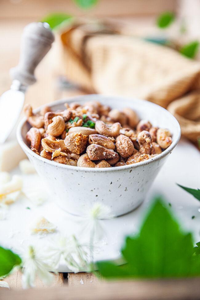Cashewnötter med parmesan
