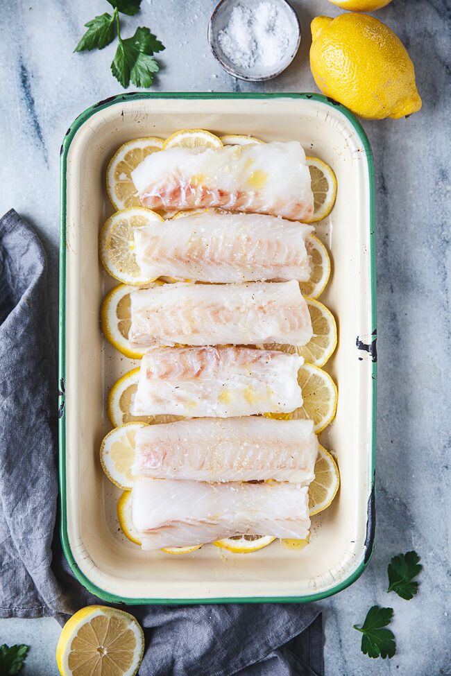 torsk i ugn, fisk i ugn,