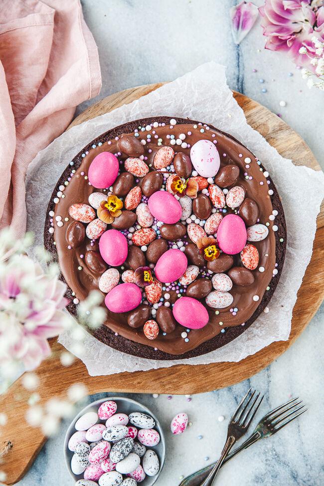 kladdkaka, påskdessert, påskefterrätt