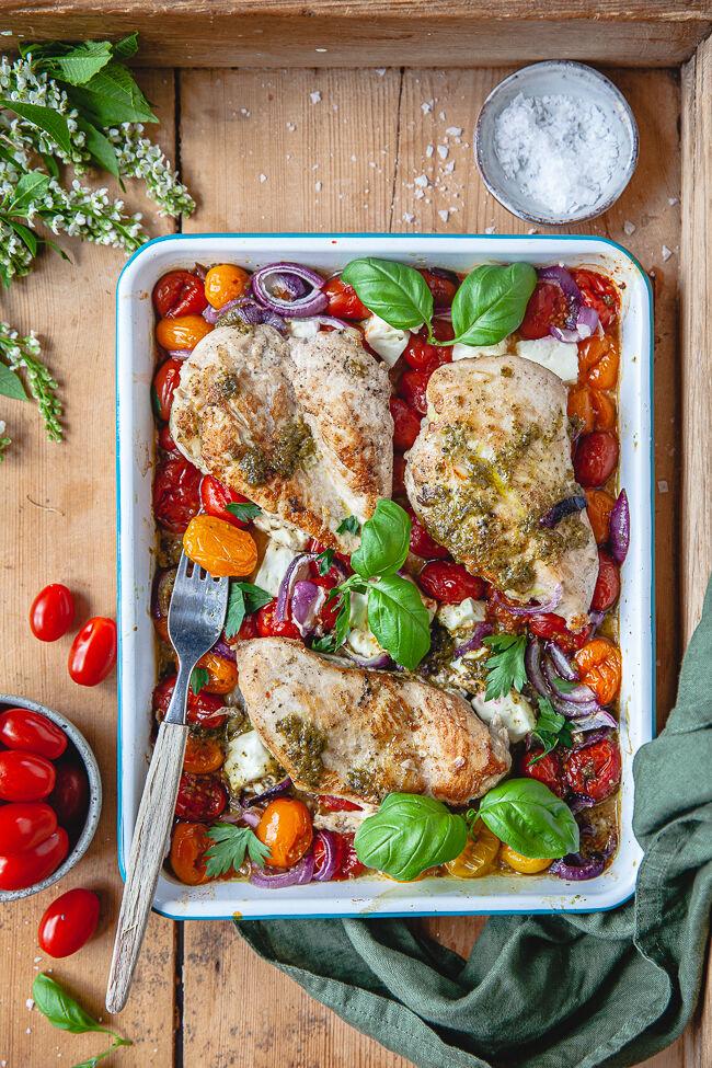 kyckling med pesto