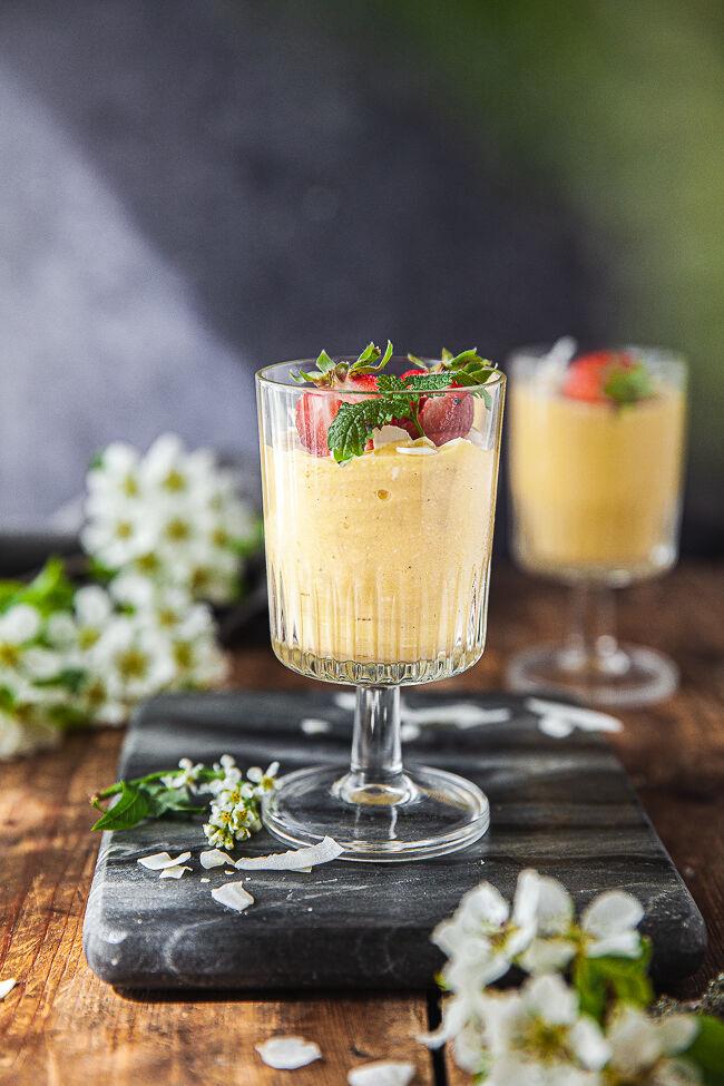 Mango smoothie, smoothie, frukost, mellis, mellanmål