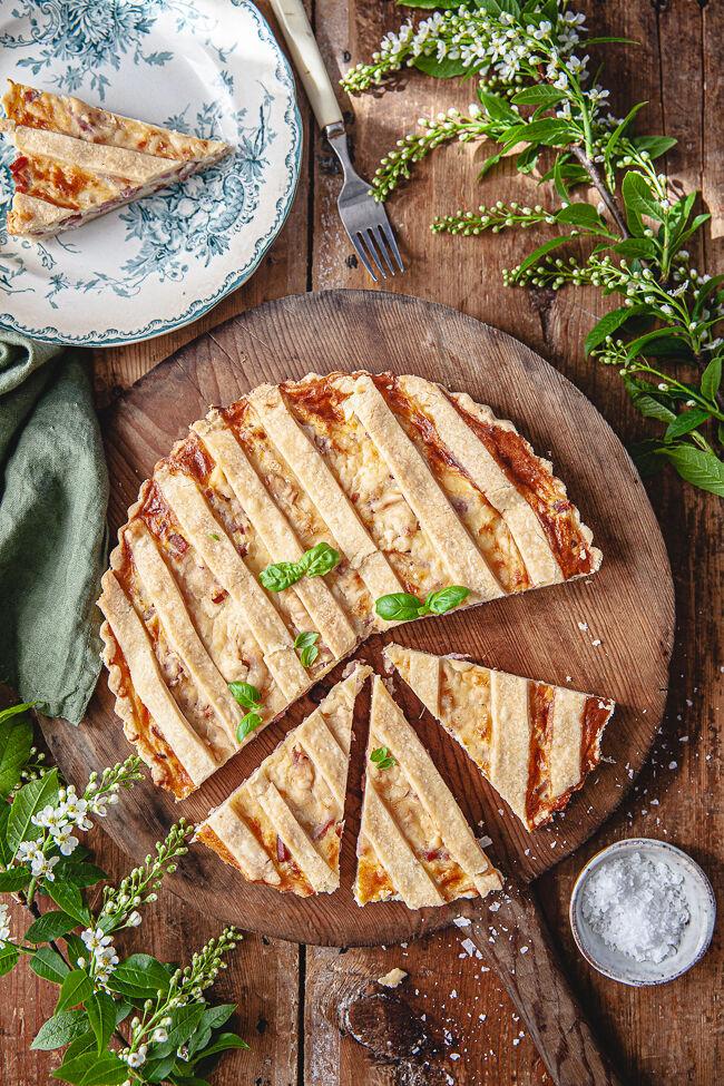 ost och skinkpaj