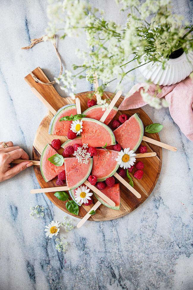 fryst melon, sockerfri glass, fruktglass