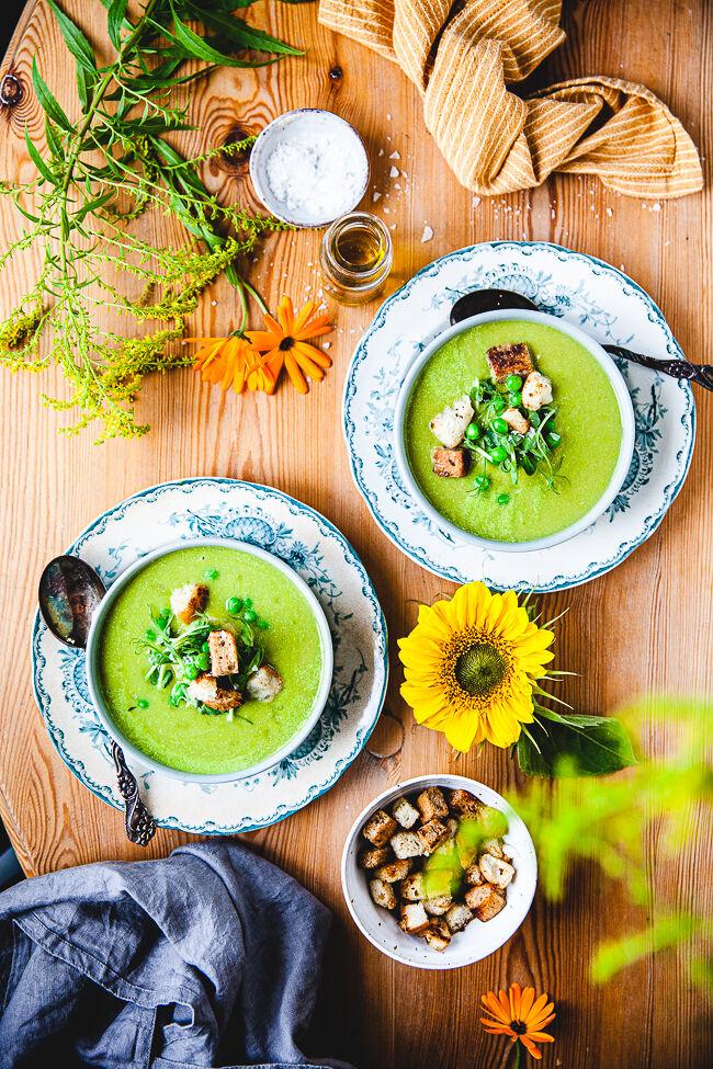 ärtsoppa, soppa, grön ärtsoppa