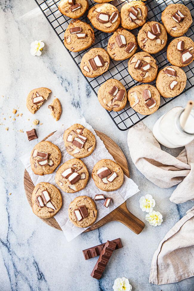 kakor med kinder choklad, småkakor, cookies,