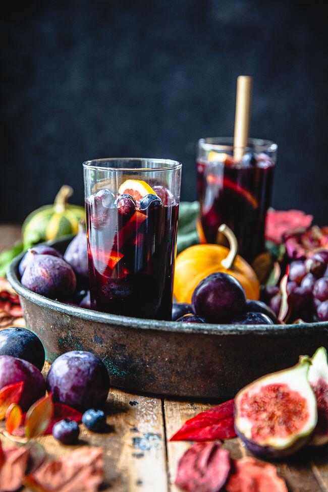 höst, sangria, halloween, drink