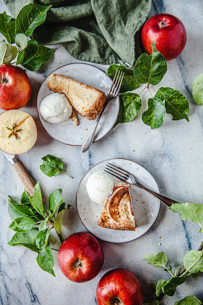äppelkaka, äpplen, fika, baka