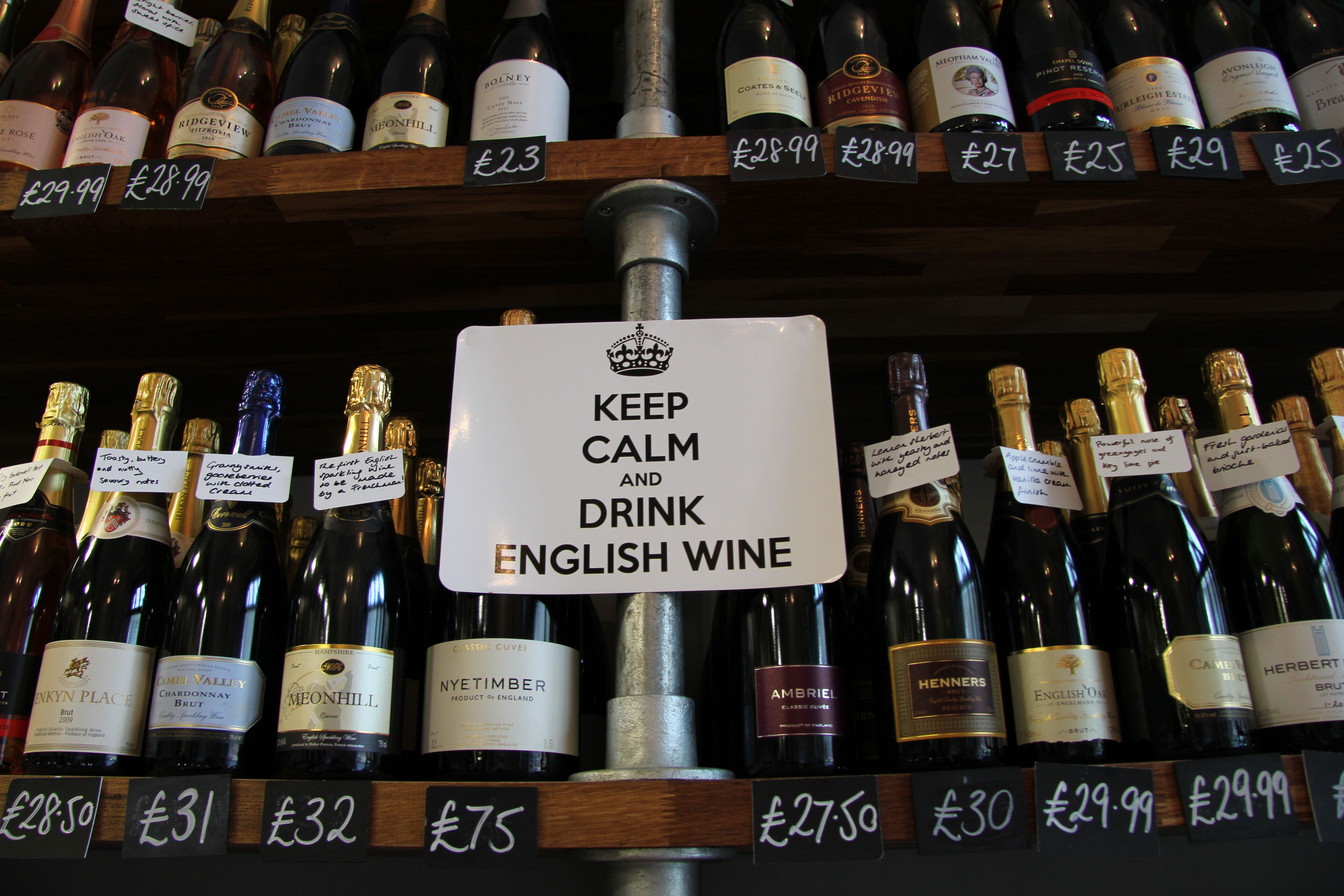 Keep calm and drink english wine at the Pantry