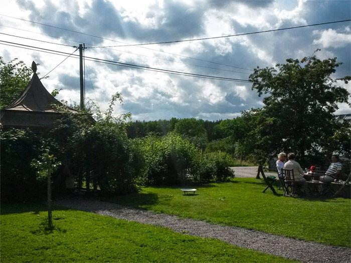 Trädgården i Äppelfabrikens kafé