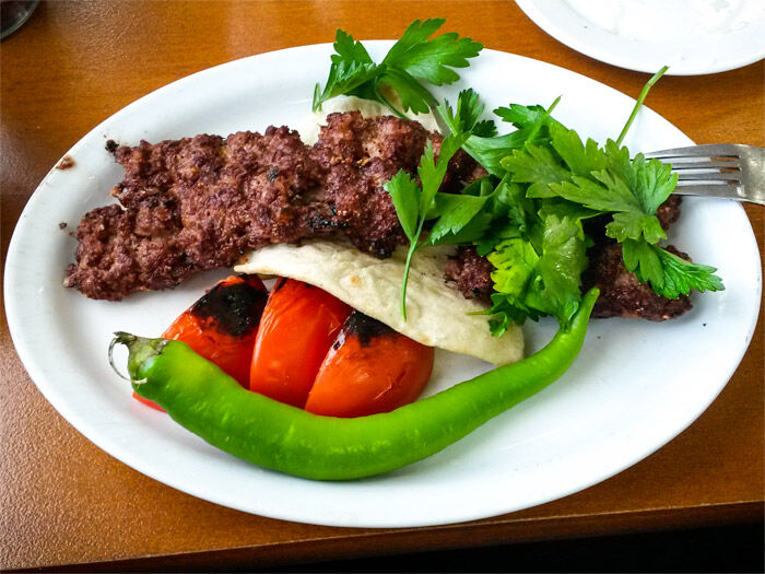 Shish-kebab från Restaurang Kurdistan