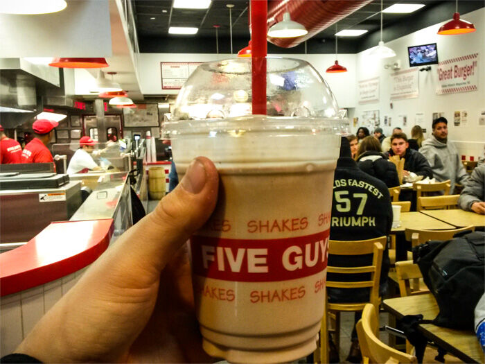 Milkshake från Five Guys i New York