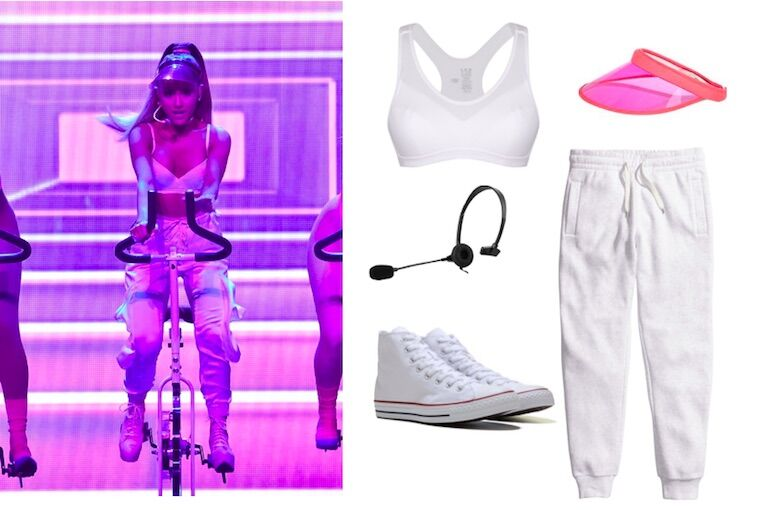 Foto och collage från Well and good: Foto: Ariana Grande, Jockey, U.S. Toy, Cellet, H&M, Converse
