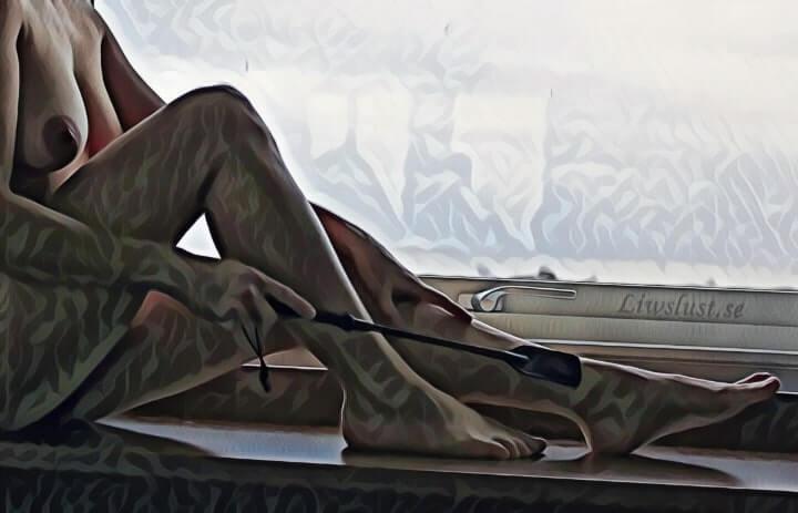 En glimt av Liw i fönstret
