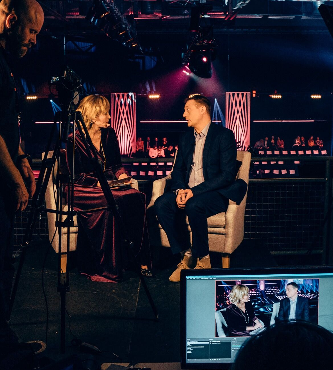 Inför galan ledde jag Cancerfondens Facebook Live-sändning där jag bland annat intervjuade Magnus Carlsson.