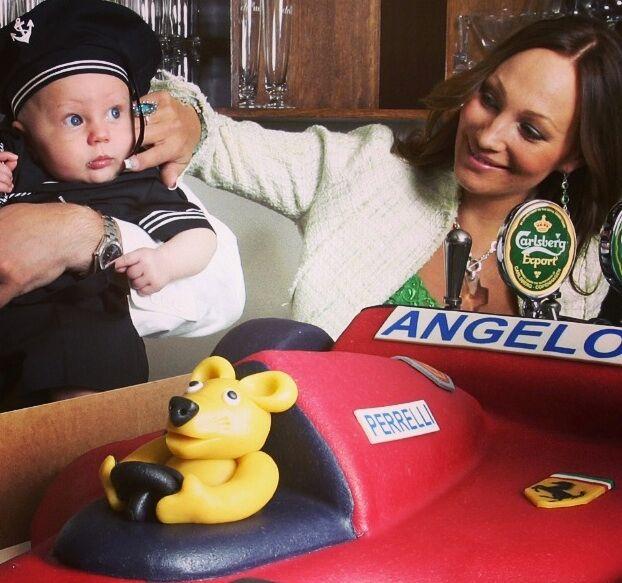 Angelo på hans dopdag.