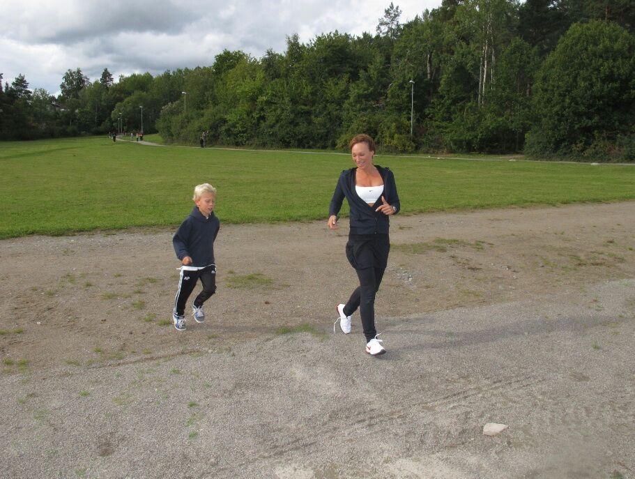 Joggingtur med morsan