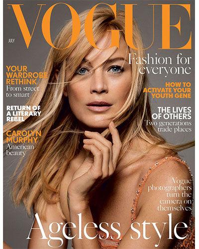 Ett nummer av senaste Vogue UK