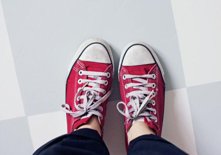 Converse rutigt golv kök inredning