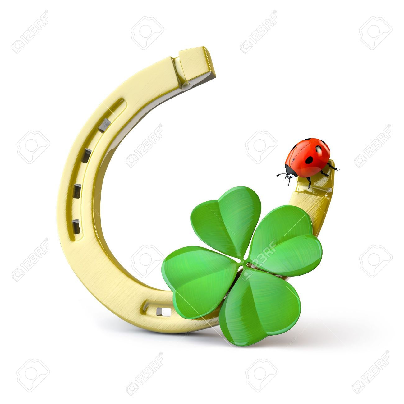 15473327-lucky-symbols-horse-shoe-four-leaf-clover-and-ladybug