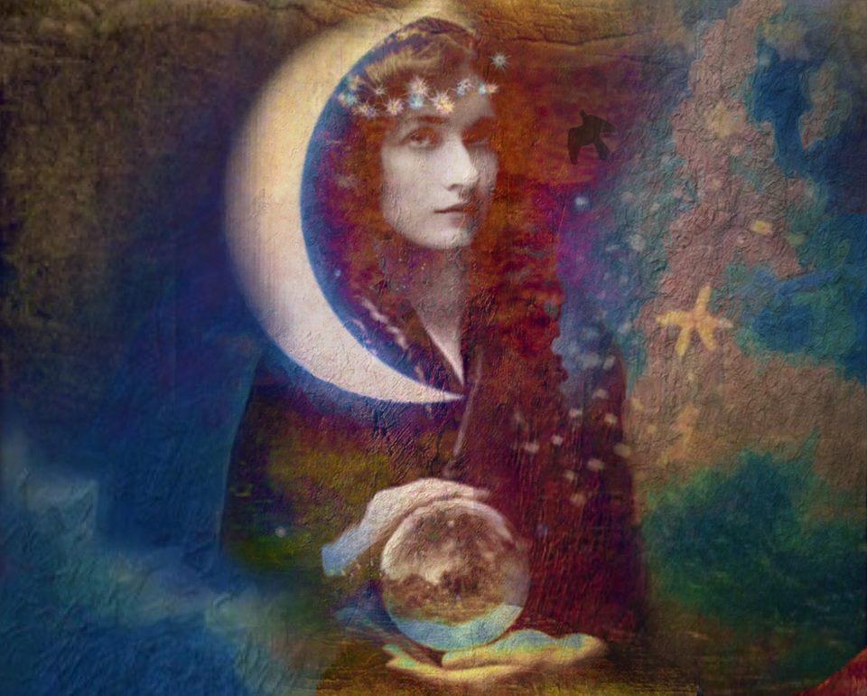 Nymåne och kristallkula