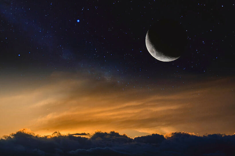 sunset-with-moon-and-stars-chechi-peinado