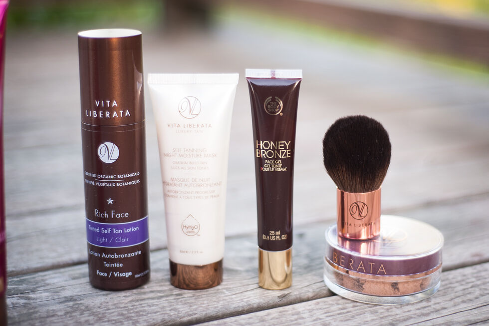 brun utan sol guide bus self tanning st. tropez vita liberala l'oréal the body shop