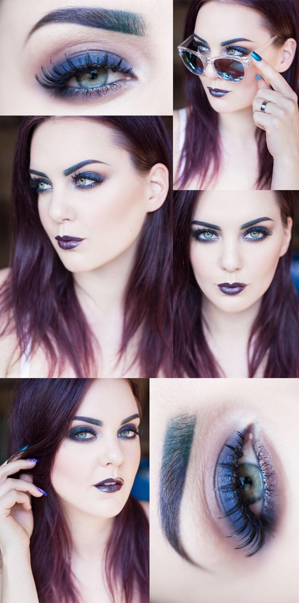 archive molkan makeup sminkning smink blue makeup