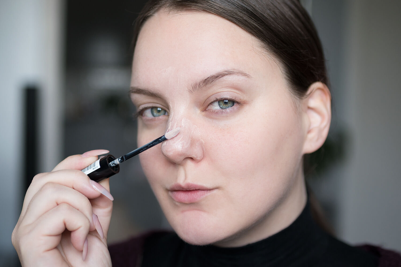 beauty hack foundation nose näsan